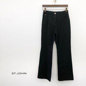 ST. JOHN Essentials Black Bell Bottom Jeans Size 2